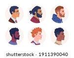 profile portraits of... | Shutterstock .eps vector #1911390040