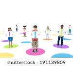 multi ethnic children connected ... | Shutterstock . vector #191139809