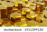 abstract 3d geometric... | Shutterstock . vector #1911399130