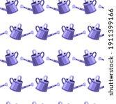 violet watering can garden...   Shutterstock .eps vector #1911399166