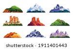 mountain ridges set isolated... | Shutterstock .eps vector #1911401443
