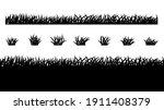 grass vector silhouette pattern ... | Shutterstock .eps vector #1911408379