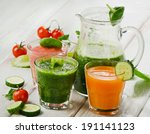 healthy vegetable smoothie and... | Shutterstock . vector #191141123