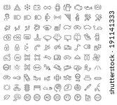 100 vector line icons set for... | Shutterstock .eps vector #191141333