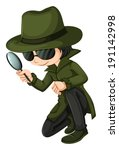1,agent,alone,background,black,boy,bright,brilliant,cartoon,case,clip-art,clipart,coat,design,detect