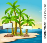 Illustration Of An Island With...