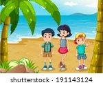 illustration of the children... | Shutterstock .eps vector #191143124