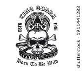 Creative Emblem With King Cobra ...