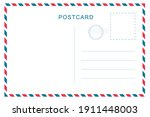 vintage postcard with white... | Shutterstock .eps vector #1911448003