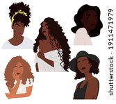 Set Of Abstract Black Women...