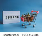 A Shopping Trolley Filled With...