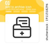 add to archive icon concept...