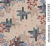 scarf pattern design with... | Shutterstock .eps vector #1911519283