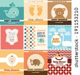 baby shower card design... | Shutterstock .eps vector #191153210