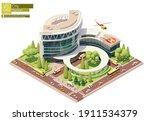 vector isometric hospital or... | Shutterstock .eps vector #1911534379
