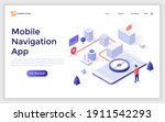 landing page template with man... | Shutterstock .eps vector #1911542293