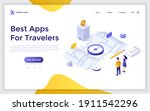 landing page template with... | Shutterstock .eps vector #1911542296