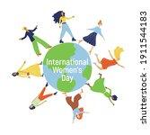 womens day  iwd   ... | Shutterstock .eps vector #1911544183