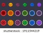 set of vector symbol aztecs...