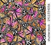 beautiful watercolor... | Shutterstock . vector #1911554056