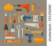 repair and construction working ... | Shutterstock .eps vector #191156060