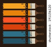 set of paint brushes with... | Shutterstock .eps vector #191156120