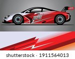 racing car decal wrap design.... | Shutterstock .eps vector #1911564013