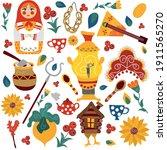 vector russian folk set.... | Shutterstock .eps vector #1911565270