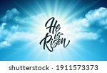 He Was Resurrected Lettering...