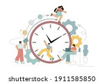 like a squirrel in a wheel.... | Shutterstock .eps vector #1911585850
