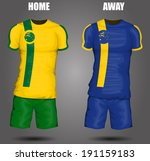 australia soccer jersey | Shutterstock .eps vector #191159183