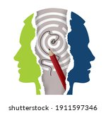 schizophrenia  depression ...   Shutterstock .eps vector #1911597346