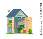 Garden Shed With Household...