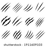 claws scratches set icon  logo... | Shutterstock .eps vector #1911609103