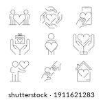Icon Set Of 9  Such As Couple ...