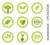 set of eco icons and symbols...