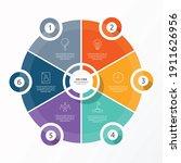 basic circle infographic...   Shutterstock .eps vector #1911626956