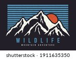 mountain typography graphics... | Shutterstock .eps vector #1911635350