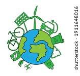 green planet  alternative... | Shutterstock .eps vector #1911648016