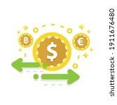 currency exchange. online...   Shutterstock .eps vector #1911676480