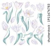 set of realistic vector white...   Shutterstock .eps vector #1911676783