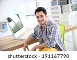 smiling young adult in office | Shutterstock . vector #191167790