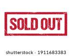 sold out stamp. red text rubber ... | Shutterstock .eps vector #1911683383