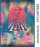 space aesthetic vibe...   Shutterstock .eps vector #1911687883