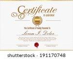 certificate template | Shutterstock .eps vector #191170748