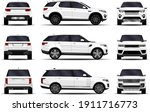 realistic suv car. front view ...   Shutterstock .eps vector #1911716773