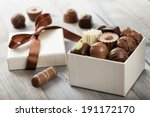 assorted chocolates... | Shutterstock . vector #191172170