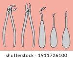 dental surgical forceps for the ... | Shutterstock .eps vector #1911726100