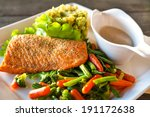 Grilled Salmon Trout Fillet...
