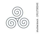 thin line celtic triskelion... | Shutterstock .eps vector #1911730243